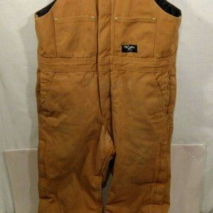 WALLS Workwear QUILT LINED DUCK Canvas Bib Overal